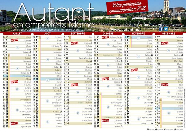 Calendrier des parutions Autant en emporte la Marne 2019 2e Semestre