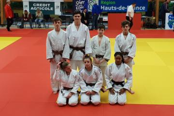 Judokas enfants championnats Tergnier Aisne