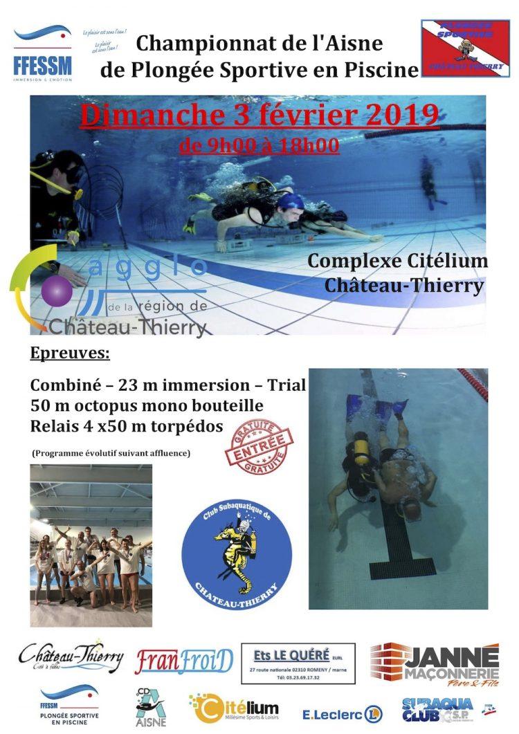 Championnat de l'Aisne de Plongée sportive en piscine