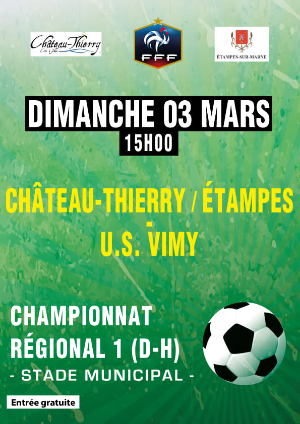 Affiche Football CTEFC vs US VIMY