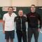 Xavier, Rémi et Julie lors de la finale départementale de tennis à Bohain