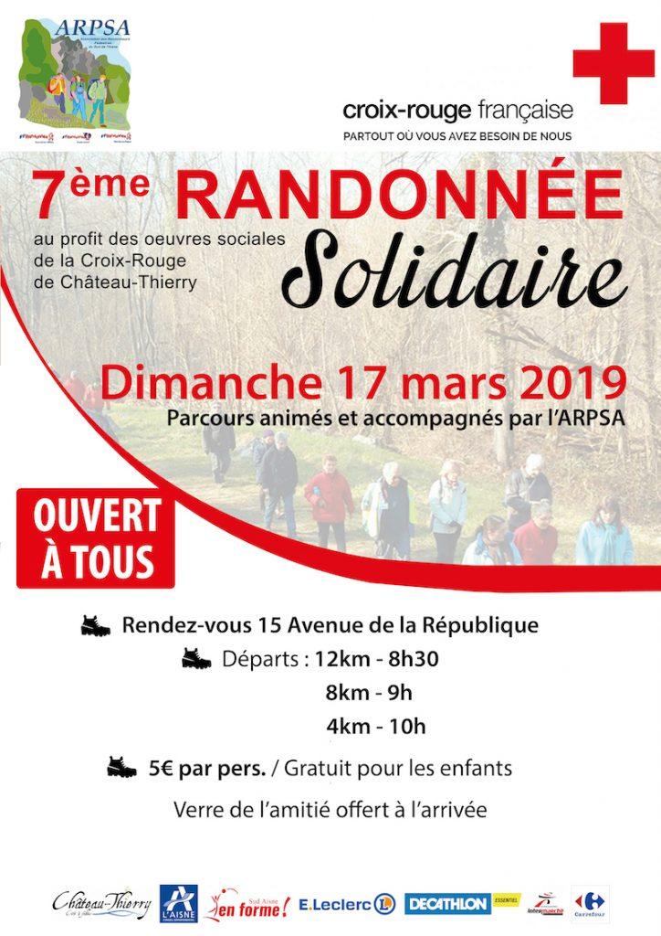 Affiche 7e Randonnée Solidaire ARPSA / Croix Rouge