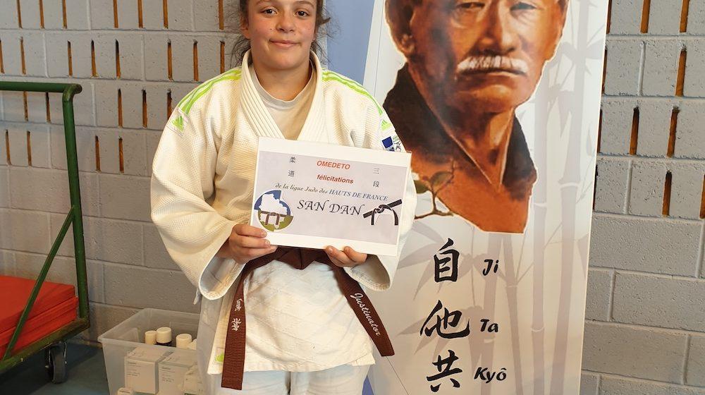 Justine Ceinture Noir Judo Club de Chateau Thierry