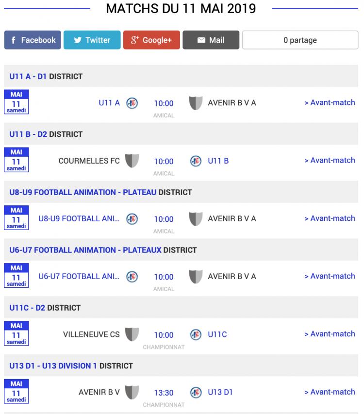 agenda football sud aisne matchs 11 mai 2019 1 sur 3