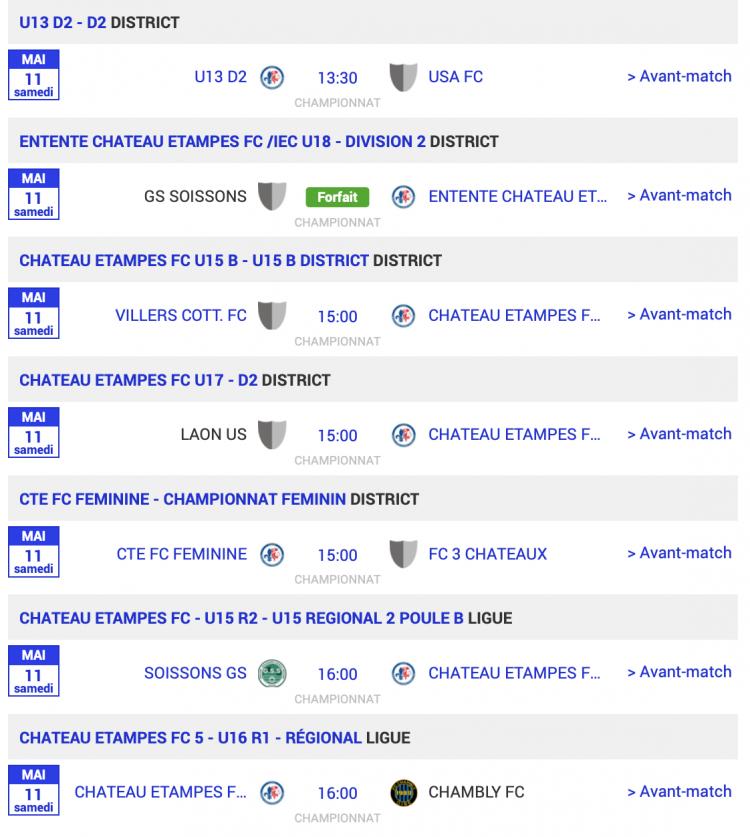 agenda football sud aisne matchs 11 mai 2019 2 sur 3