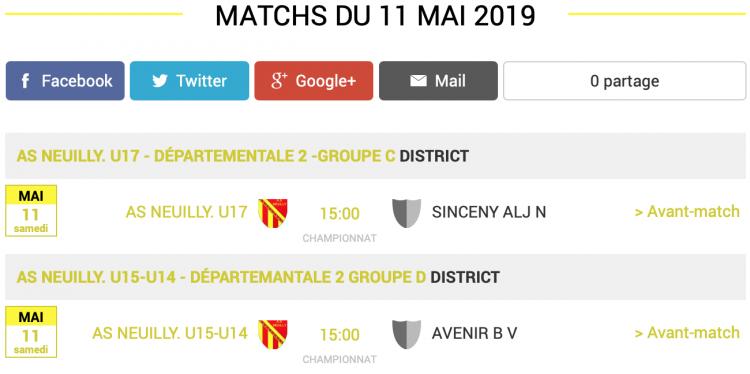 agenda football sud aisne matchs 11 mai 2019 3 sur 3