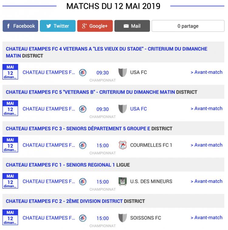 agenda football sud aisne matchs 12 mai 2019 1 sur 2