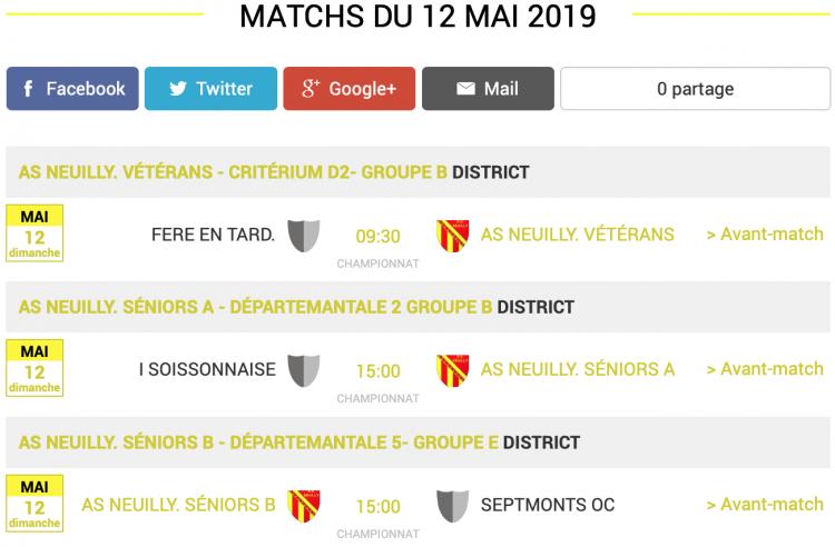 agenda football sud aisne matchs 12 mai 2019 2 sur 2