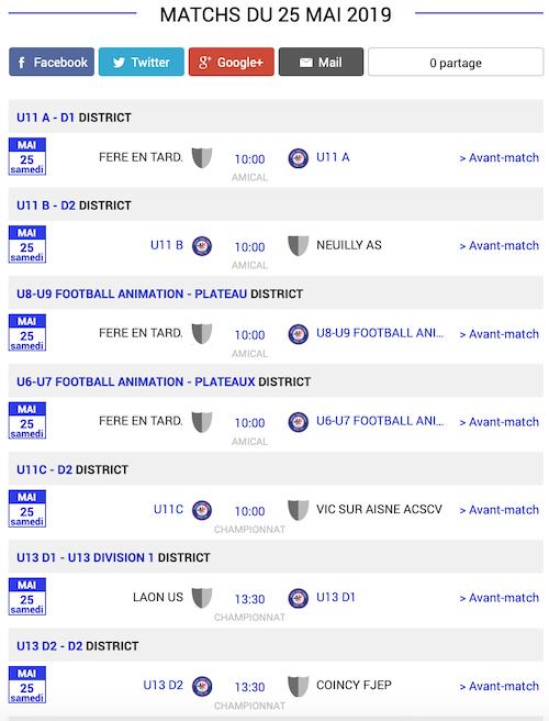 football matchs sud de laisne 25 mai 2019 1