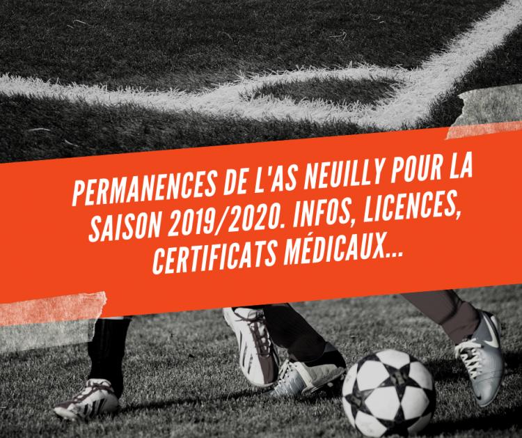 Permanences AS Neuilly Juillet et Aout 2019