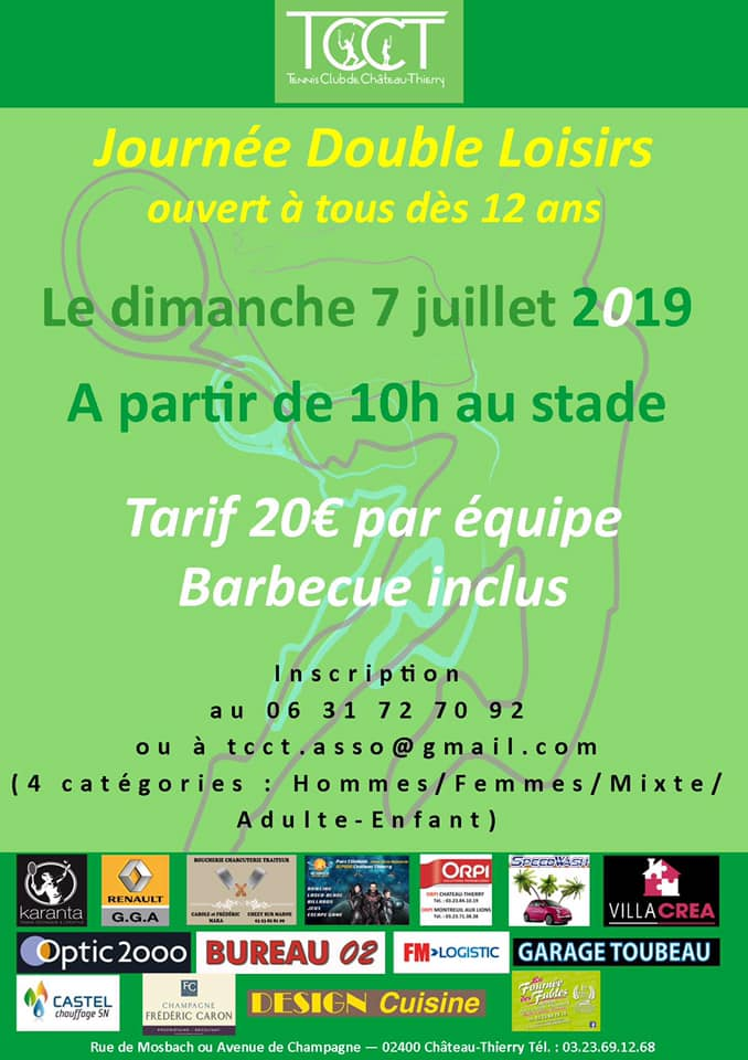 tcct double loisirs tcct chateau thierry 7 juillet