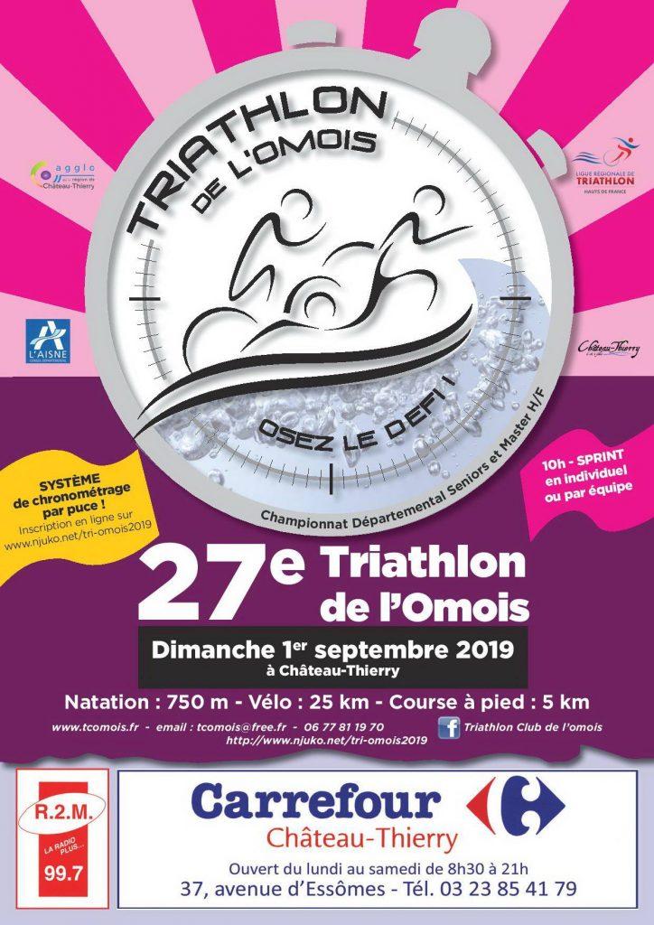 Affiche Triathlon de l'Omois Château-Thierry
