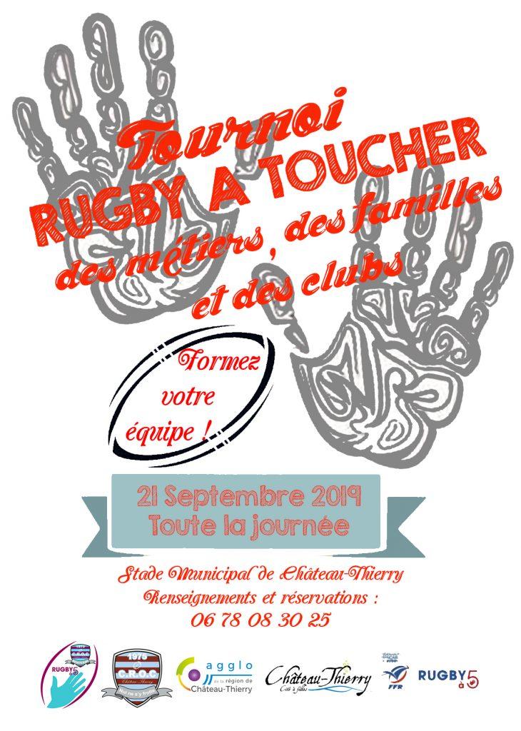 Affiche tournoi CROC Chateau Thierry rugby a 5