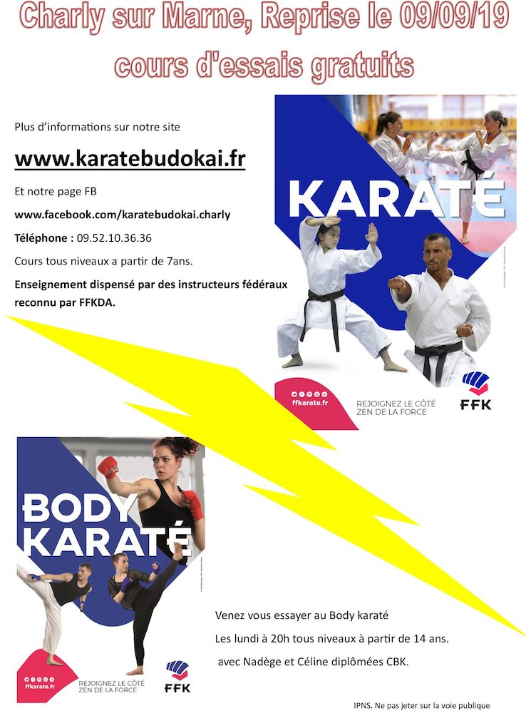 Cours karate budo kai charly sur marne