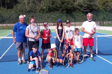 Photos enfants stages de tennis aout 2019 au tennis club du tardenois