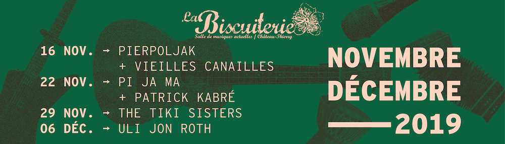 Programmation concerts La Biscuiterie Chateau Thierry