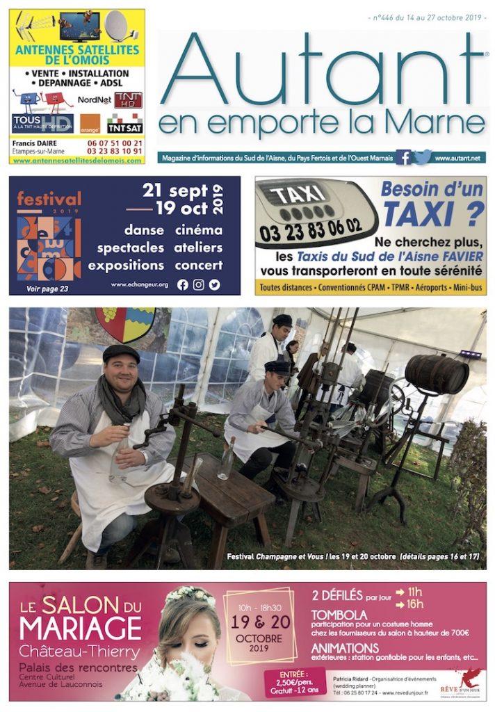 Couverture Autant en emporte la Marne n°446 du 14 octobre 2019