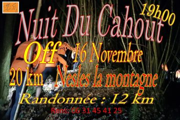 Couverture Nuit du Cahout de Chierry J'y Cours à Nesles-la-Montagne