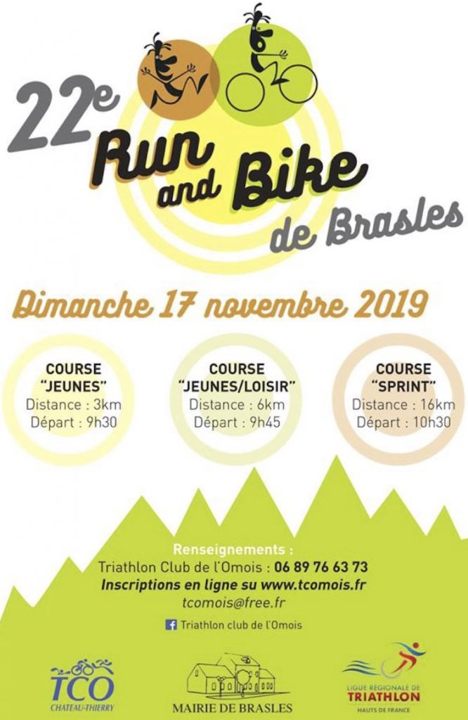 Affiche Run and Bike de Brasles le 17 novembre 2019