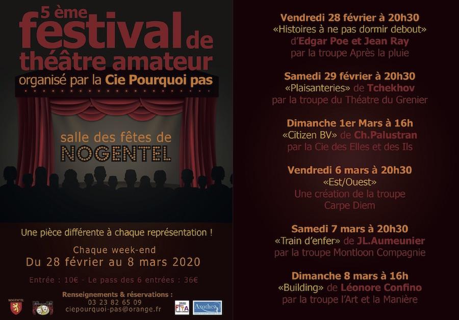 Programme festival amateur théâtre de nogentel 2020