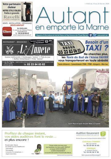 Couverture magazine Autant en emporte la Marne 453 du 10 février 2020