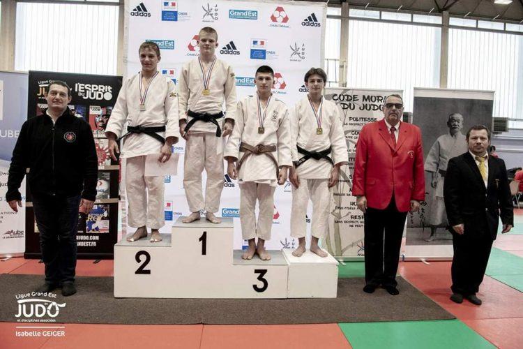 Photo Nolan Champrenault podium judo
