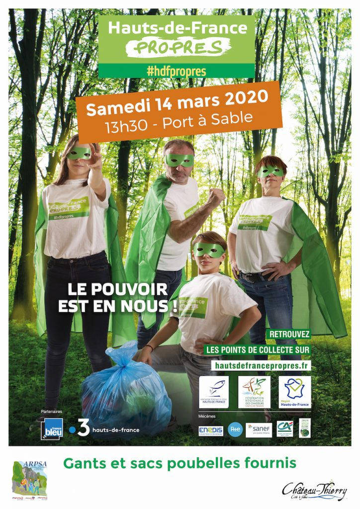 affiche #hdfpropres à Château-Thierry le samedi 14 mars