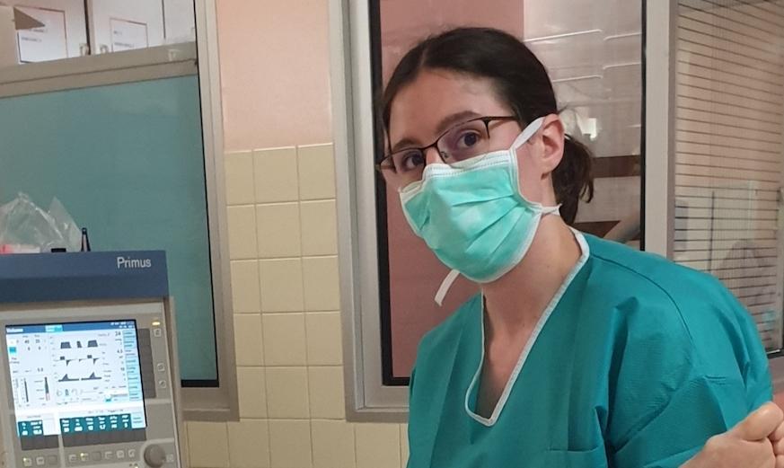 Ophélie Ousselin, kiné de l'hôpital