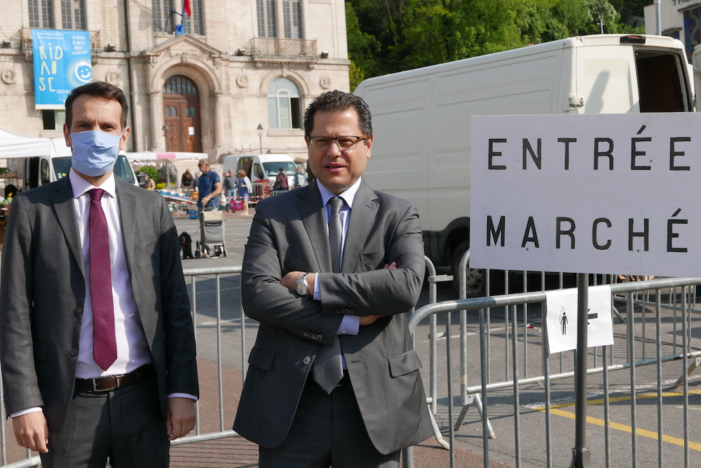 Sebastien Eugene et Ziad Khoury maire et prefet de l'Aisne