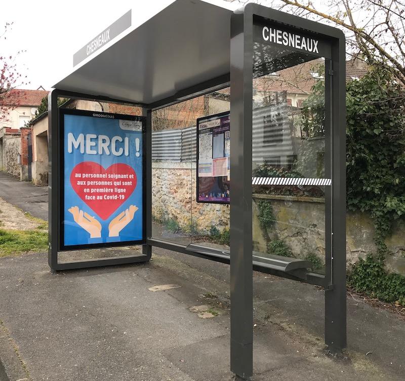 Abri bus château-thierry covid19