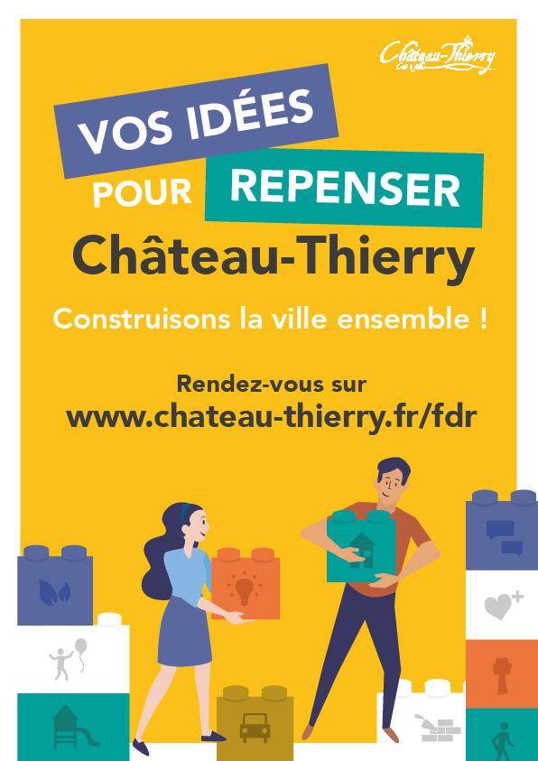 Repenser la ville de Chateau Thierry affiche