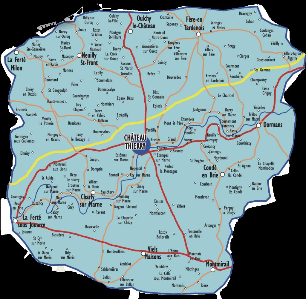 Carte de diffusion Château-Thierry