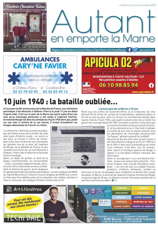 Couverture Autant en emporte la Marne 462 du 22 juin 2020