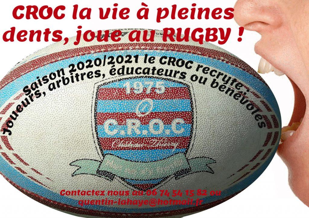 Affiche du CROC club de Rubgy de Chateau Thierry