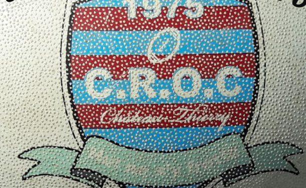 Rugby avec slogan du CROC de Chateau Thierry