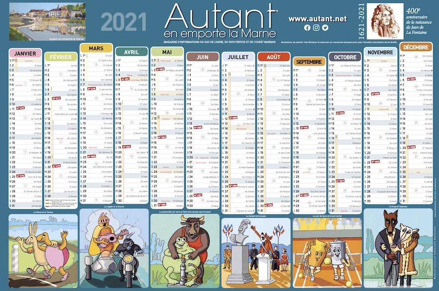Calendrier grand format Autant 2021