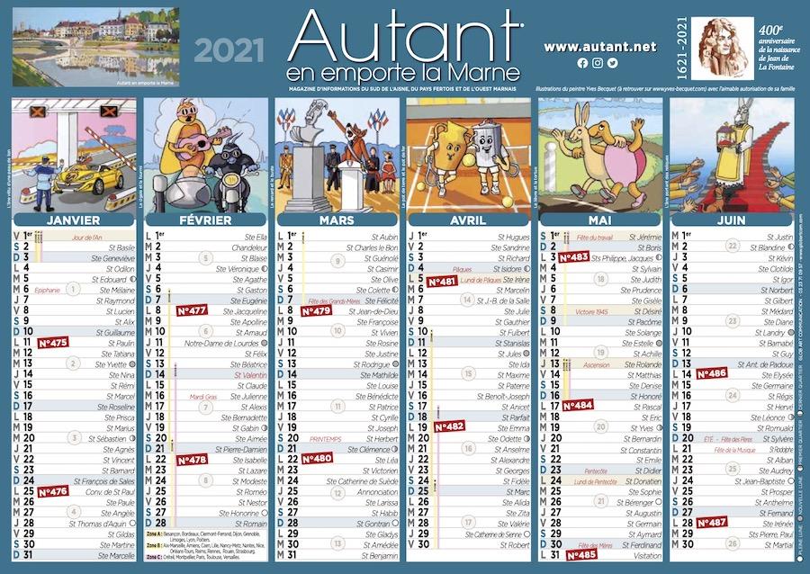 Petit calendrier Autant en emporte la Marne 2021