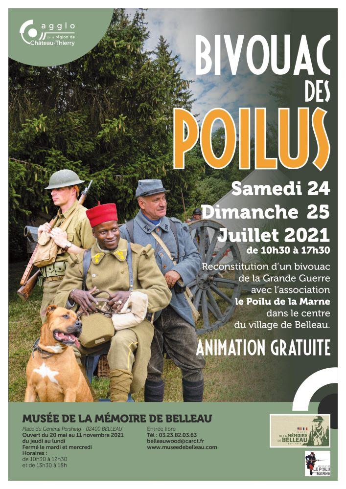 Affiche du bivouac des poilus belleau 2021