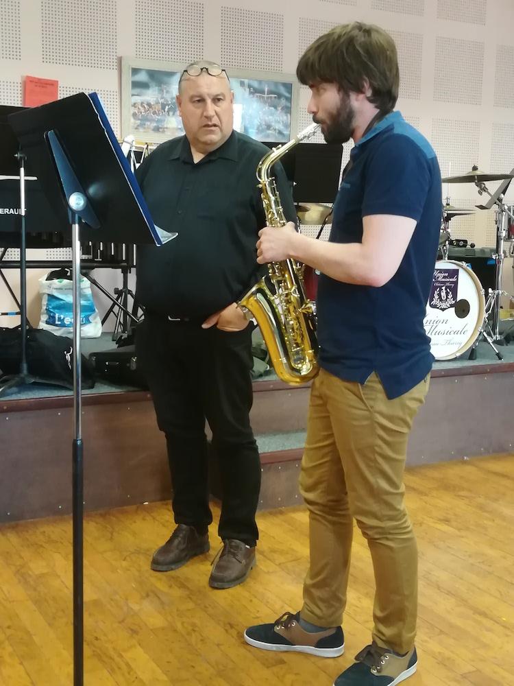Union musicale, apprentissage de la trompette
