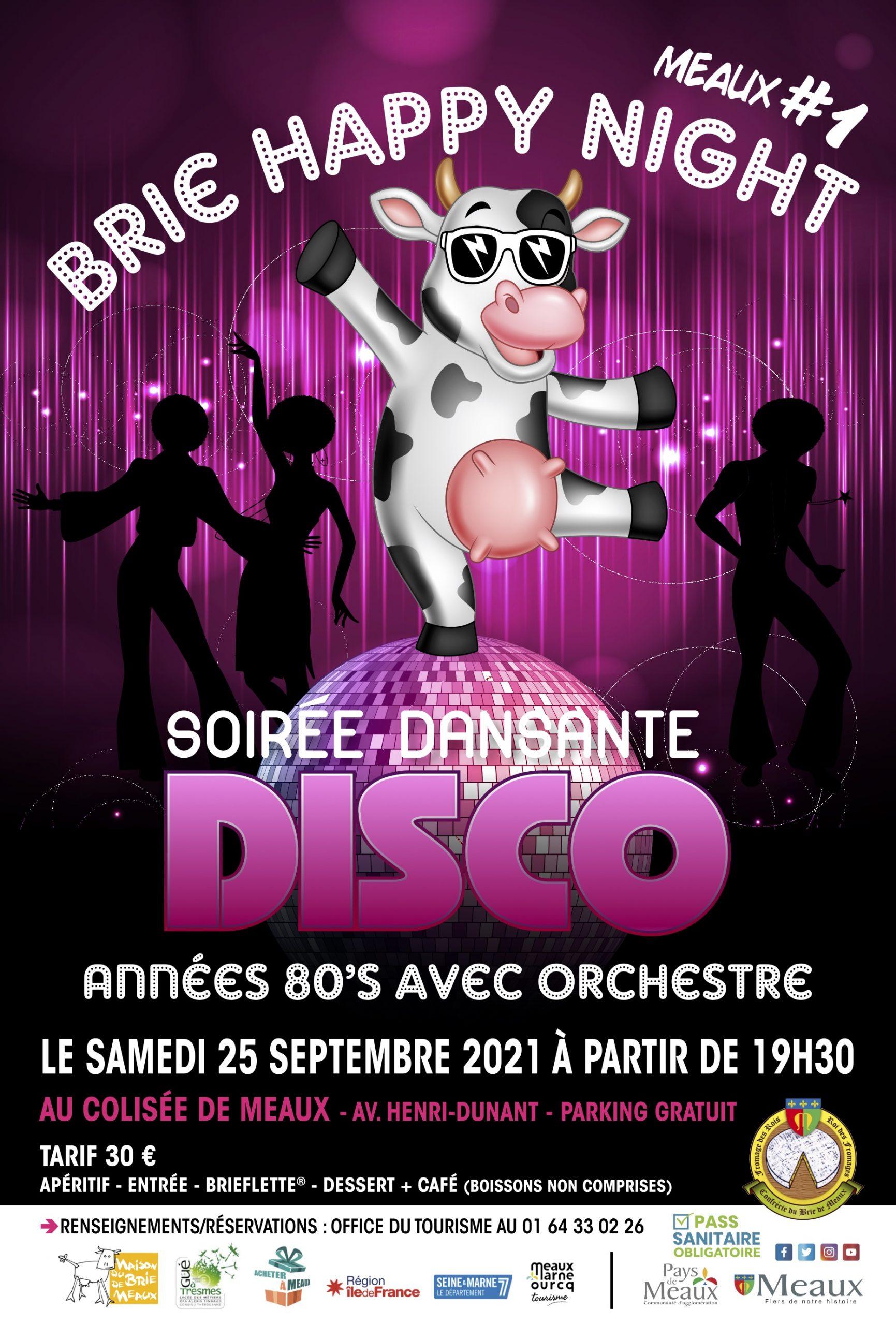 Affiche Disco Brie pour l'anniversaire happy brie 2021