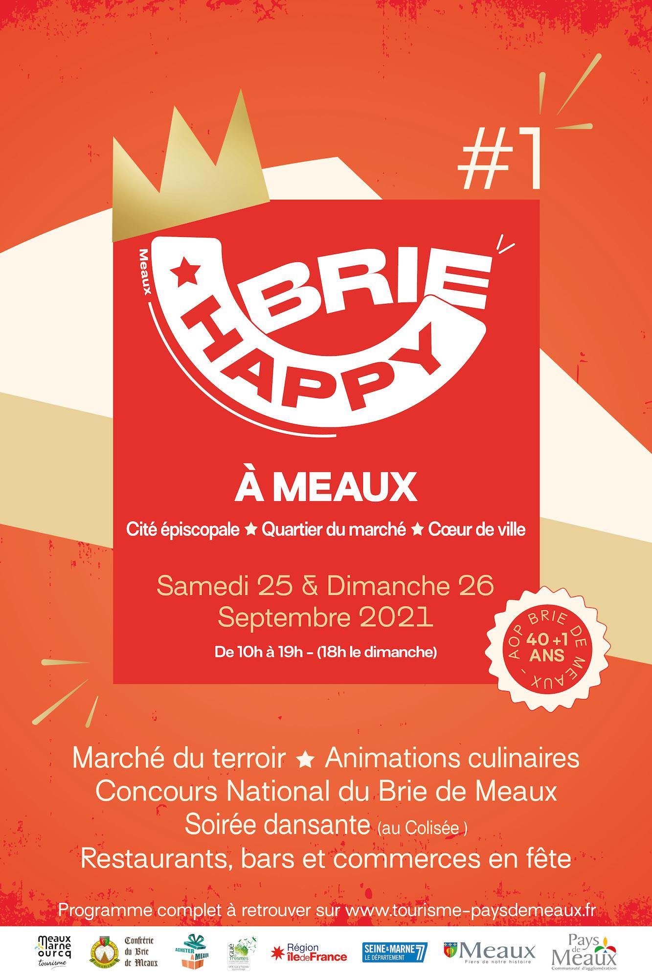 Affiche Happy Brie Meaux 2021